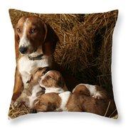 Puppies Throw Pillow