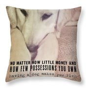 Puppy Dawg Quote Throw Pillow