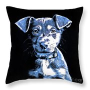 Puppy Dog Graphic Novel Drawing Throw Pillow