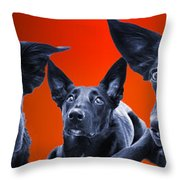 Puppy Dog Panoramic Montage Throw Pillow