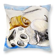 Puppy Dreams Throw Pillow