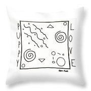 Puppy Love Throw Pillow by Robbie Masso