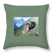 Puppy Max Throw Pillow