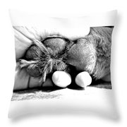 Puppy Paw Throw Pillow