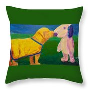 Puppy Say Hi Throw Pillow