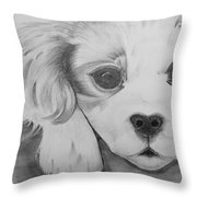 Puppy Sketch Throw Pillow