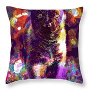 Puppy Sweet Cute Dog Young Animal  Throw Pillow