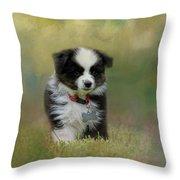 Puppyhood 1 Throw Pillow