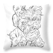Puppy_printfilecopy Throw Pillow