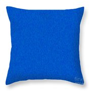 Pure Blue Bliss Abstract Inspirational Words Artwork By Omaste W Throw Pillow
