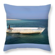 Pure Blue Sea Throw Pillow