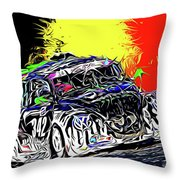 Pure Fun - 25 Hrs. Of Spa-francorchamps Throw Pillow