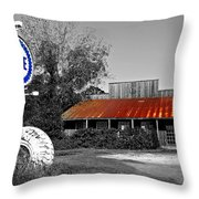 Pure Gas Station Throw Pillow