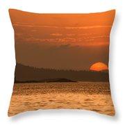 Pure Golden Sunset Throw Pillow