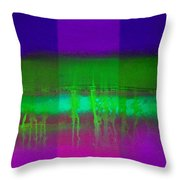 Pure Green Throw Pillow