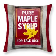 Pure Maple Syrup For Sale Here Sign Throw Pillow
