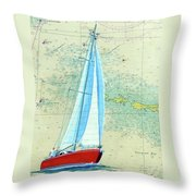 Pure Michigan Boating Throw Pillow