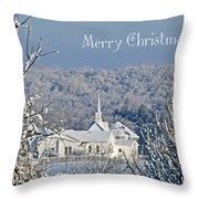 Pure White Christmas Throw Pillow