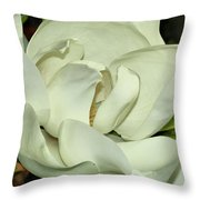 Pure White Fragrant Beauty Throw Pillow