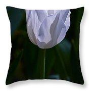 Pure White Petals Throw Pillow