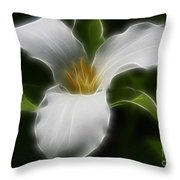 Pure White Trillium Throw Pillow