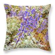 Pure Wild  Purple Throw Pillow
