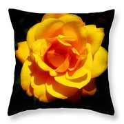 Pure Yellow Petals Throw Pillow