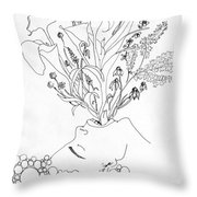 Purging Old Habits- Manifesting New Ones Throw Pillow
