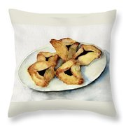 Purim Cookies Throw Pillow by Annemeet Hasidi- van der Leij