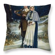 Puritans Going To Church Throw Pillow