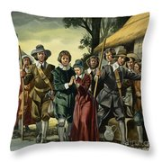 Puritans Throw Pillow