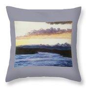 Purpellow Landscape Throw Pillow