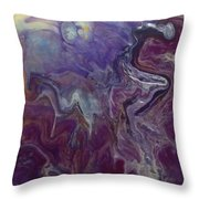 Purple Abyss Throw Pillow