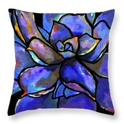 Purple Agave Throw Pillow
