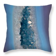 Purple And Blue Agate With Druzy Throw Pillow
