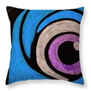 Purple And Blue Eyeball In Saint Augustine Florida Throw Pillow