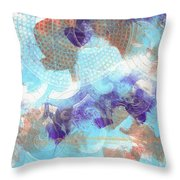 Purple And Blue In The Round Throw Pillow