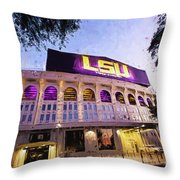 Purple And Gold - Digital Painting Throw Pillow