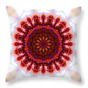 Purple And Gold Flower Throw Pillow