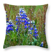 Purple And Grass Throw Pillow