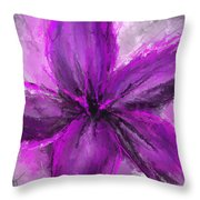 Purple And Gray Art Throw Pillow
