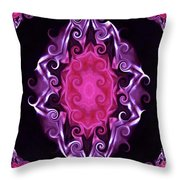 Purple And Pink Throw Pillow