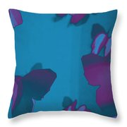 Purple And Turquoise Butterflies Throw Pillow