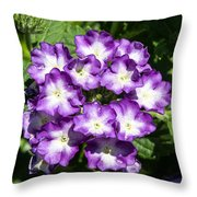 Purple And White Bouquet Throw Pillow