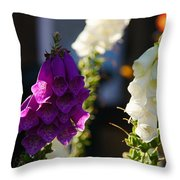 Purple And White Throw Pillow