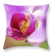 Purple And White Orchid 2 Throw Pillow