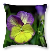 Purple And Yellow Bokeh Throw Pillow