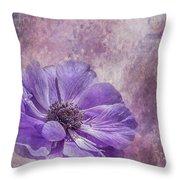 Purple Anemone Art Throw Pillow