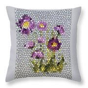 Purple Asters II  Throw Pillow