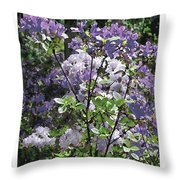 Purple Azaelas Throw Pillow